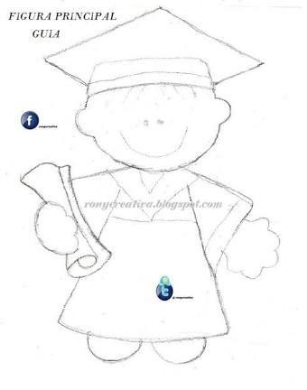 Resultado de imagen para graduados foami moldes | Graduación ...