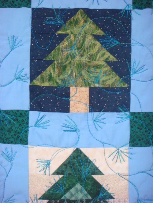 Detail - Pine Tree Quilt by Peggy Nagle, Elora, Ontario | Quilts ... : pine tree quilts - Adamdwight.com