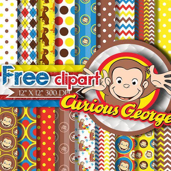 Curious George Paper CURIOUS GEORGE DIGITAL Paper Curious George Clipart, Curious George