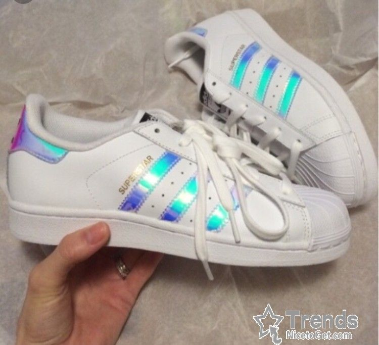 Superstar Rainbow adidas saved for Big kids Women's 8 :) brand new in box!  Mint condition, kept in box :) Adidas Shoes Sneakers