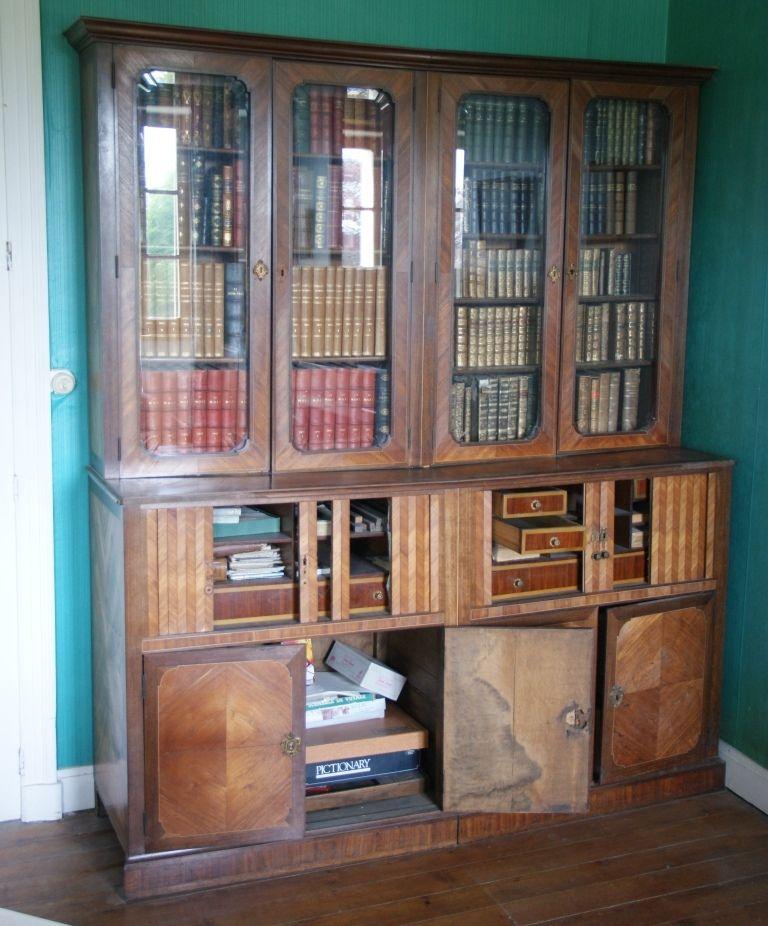 Biblioth que ancienne bois de rose et palissandre for Renovation de meubles en bois