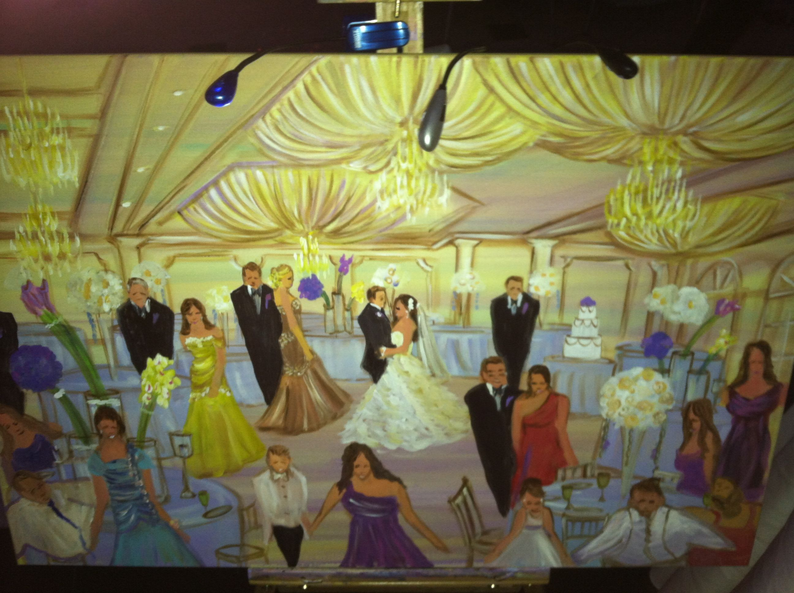 Painted Live At Wedding Reception