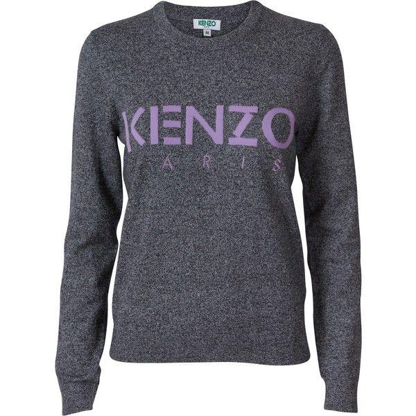 Kenzo Sweat Mørke Grå (2 285 SEK) ❤ liked on Polyvore featuring kenzo