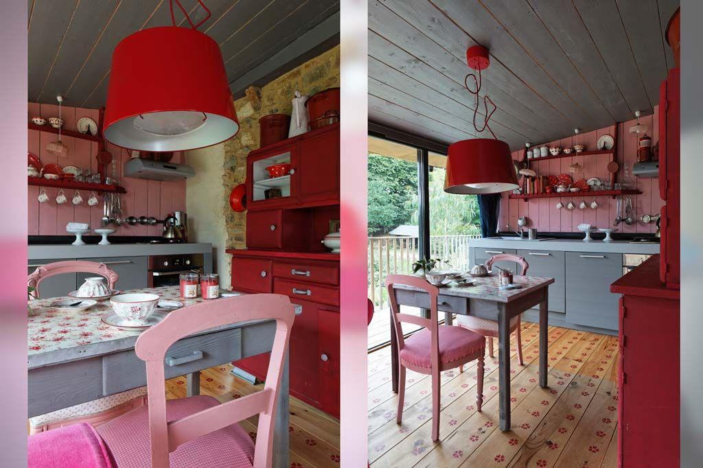 Cuisine et coin repas g te n 2 la maison des lamour bretagne casa kitchen 2016 house - Coin casa mobili ...
