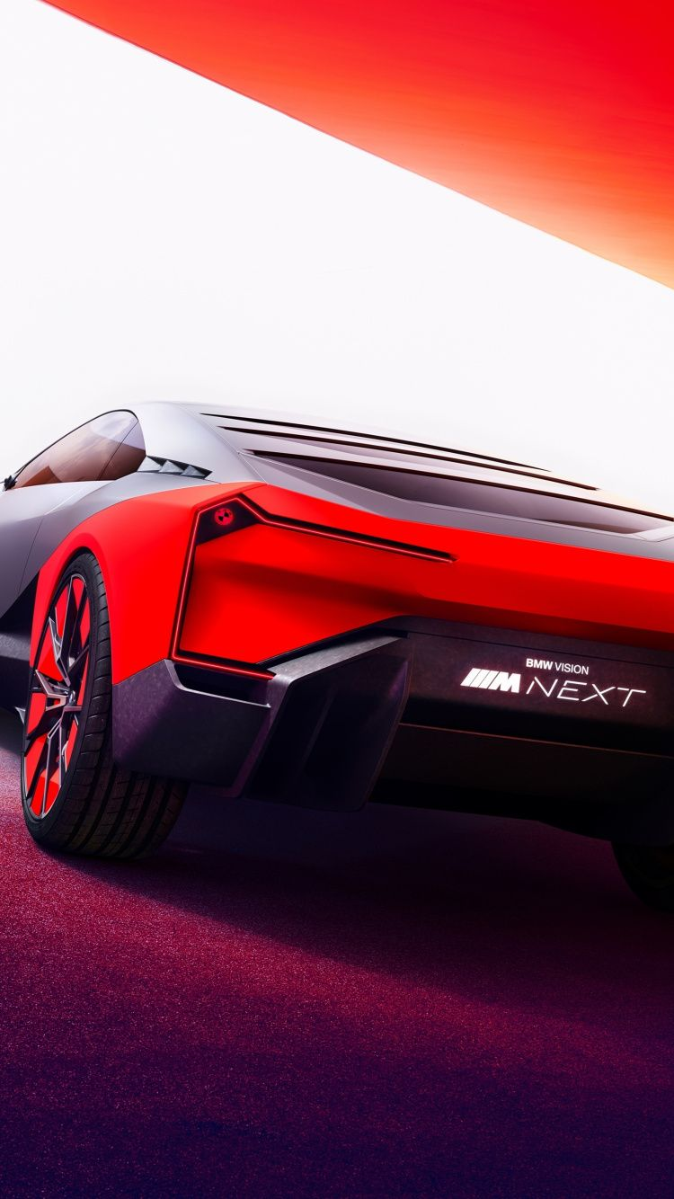 750x1334 Bmw Vision M Next Rear View Wallpaper In 2020 View Wallpaper Bmw Rear View