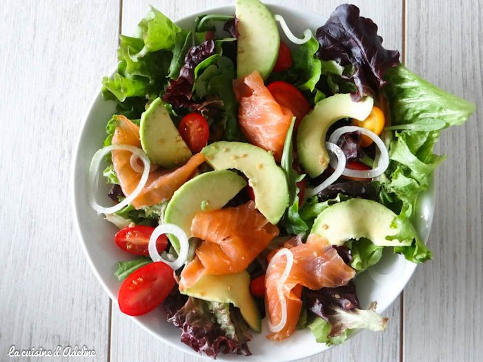 salade saumon fum avocat tomates recette entr e pinterest salad soup et food. Black Bedroom Furniture Sets. Home Design Ideas