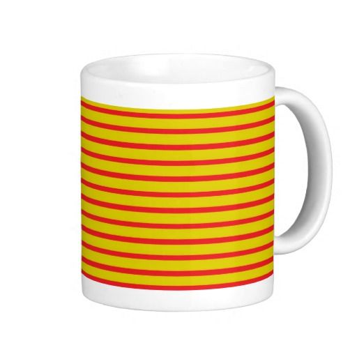 Red and Gold Stripes Mug
