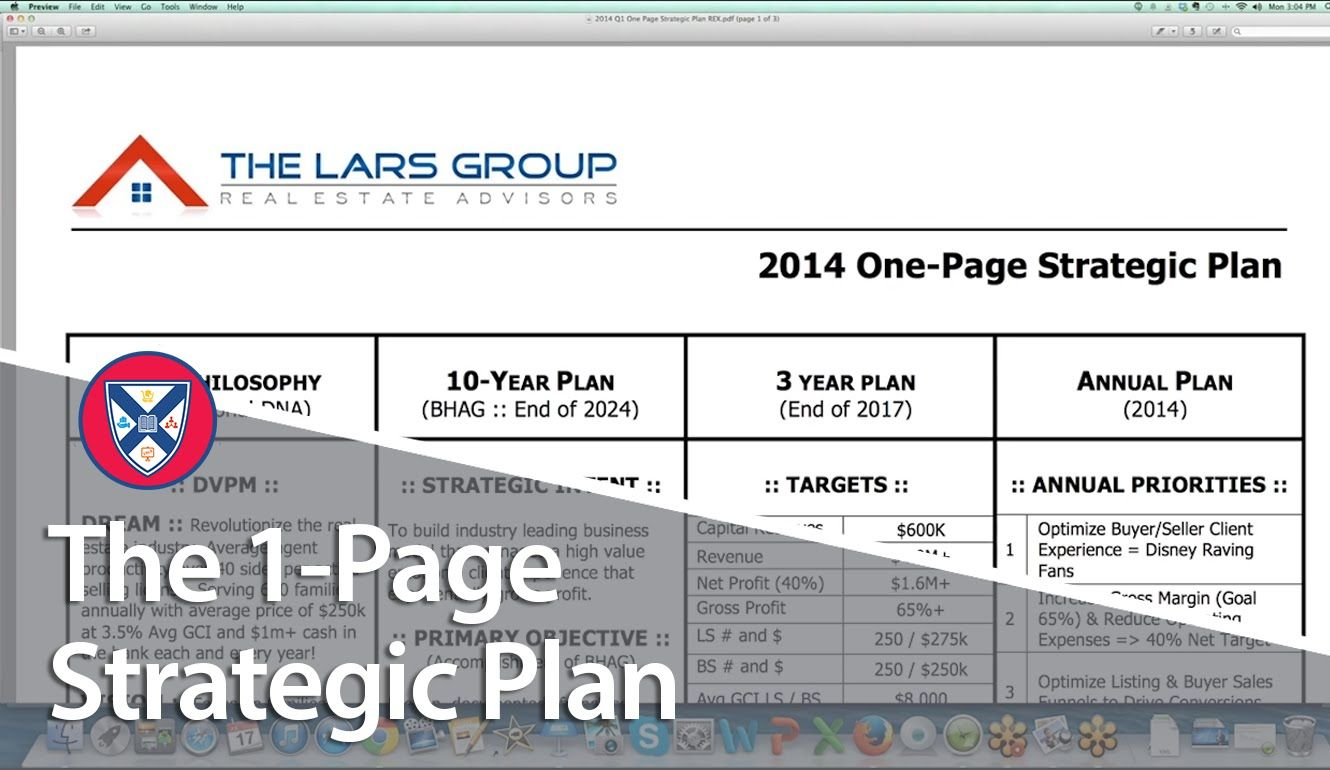 Strategic Business Plan Roadmap