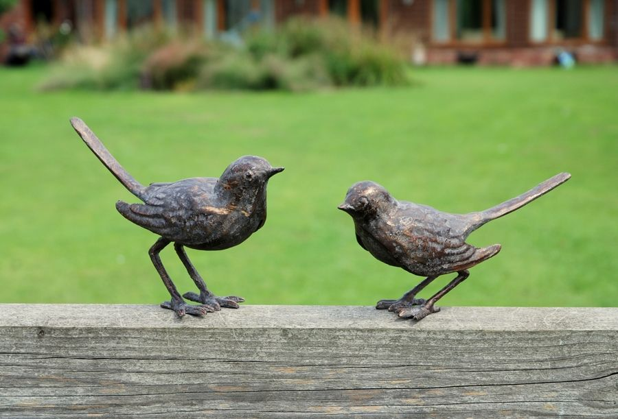 small bird pair garden ornaments the great outdoors. Black Bedroom Furniture Sets. Home Design Ideas