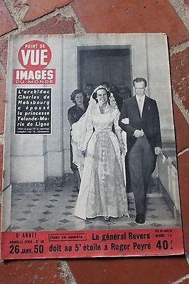 Point De Vue Images Du Monde N 86 Mariage De Charles De Habsbourg Et Yolande In Livres Bd Revues Ebay Point De Vue Mariage Etoile