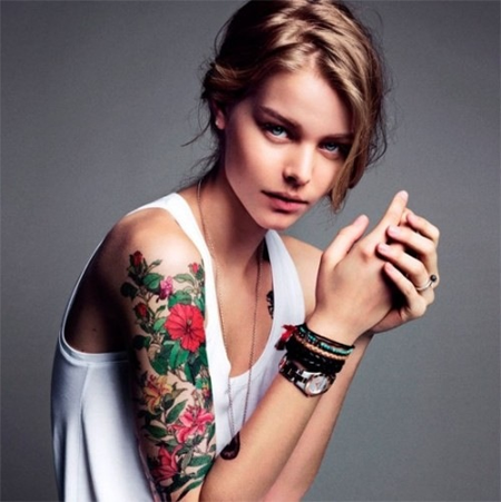 Japanese Tattoo Designs For Women Png 450 451 Floral Tattoo Sleeve Half Sleeve Tattoos Designs Girls With Sleeve Tattoos