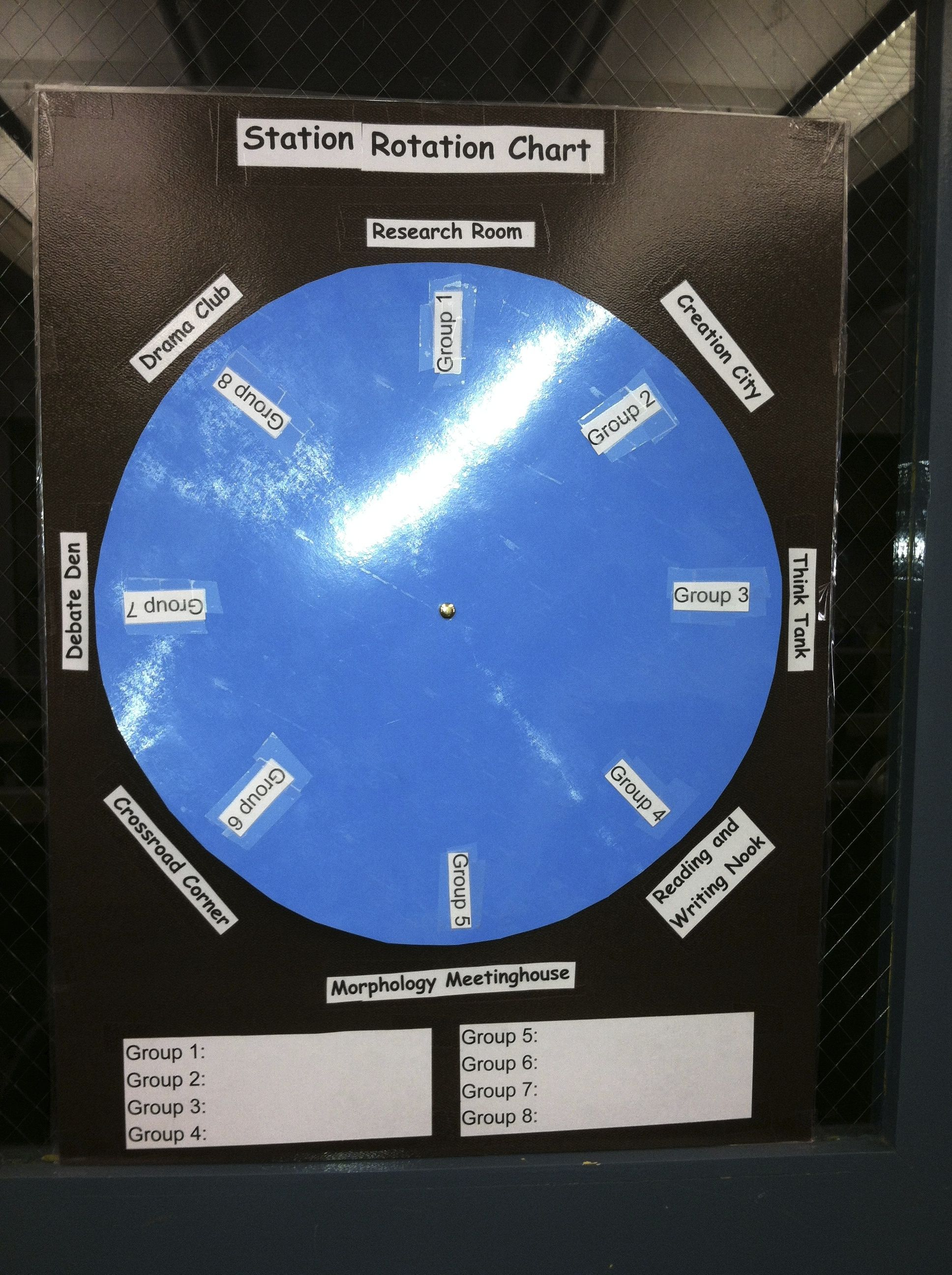 Literacy Station Rotation Wheel For Fourth Grade
