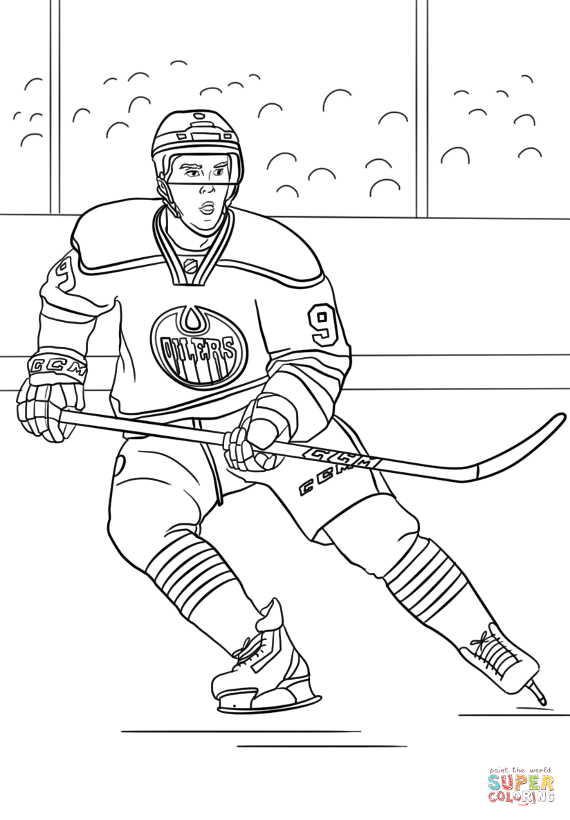 Connor McDavid  Super Coloring  Sports coloring pages, Hockey