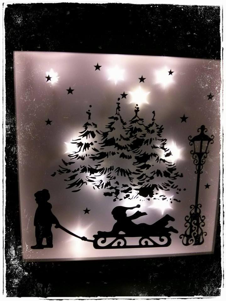Bilderrahmen Weihnachten mit Lichterkette   Dekoration   Pinterest ...
