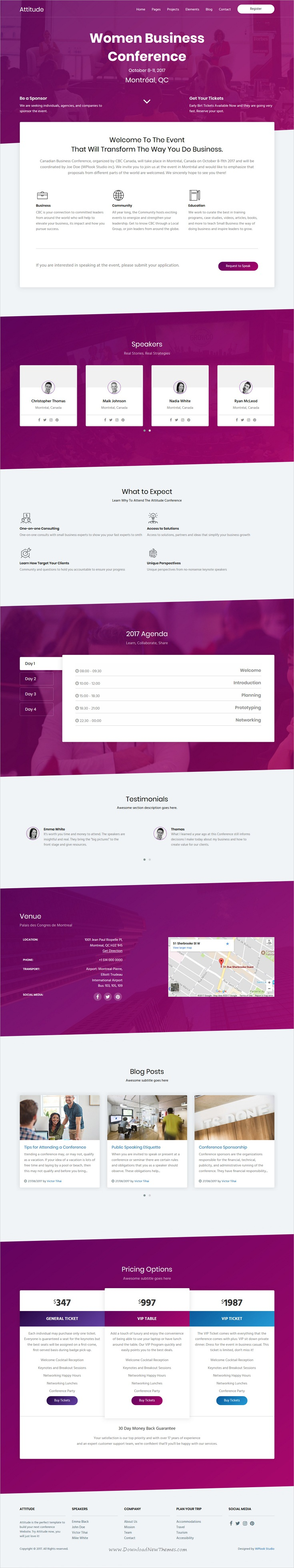 Attitude is clean and modern design 6in1 responsive #HTML ...