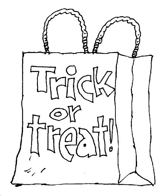 trick or treat bag worksheets for kids  home / coloring