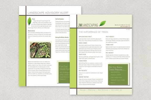 Landscape Services Datasheet Template  This DoubleSided