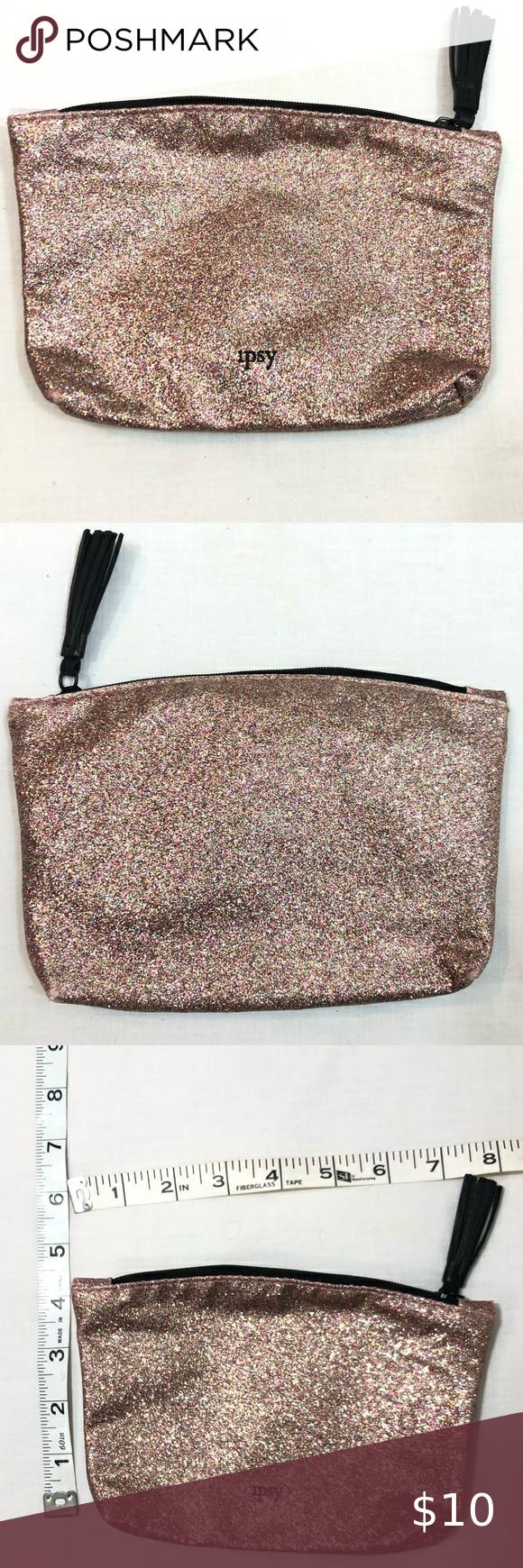 Ipsy glitter makeup cosmetic bag in 2020 Cosmetic bag