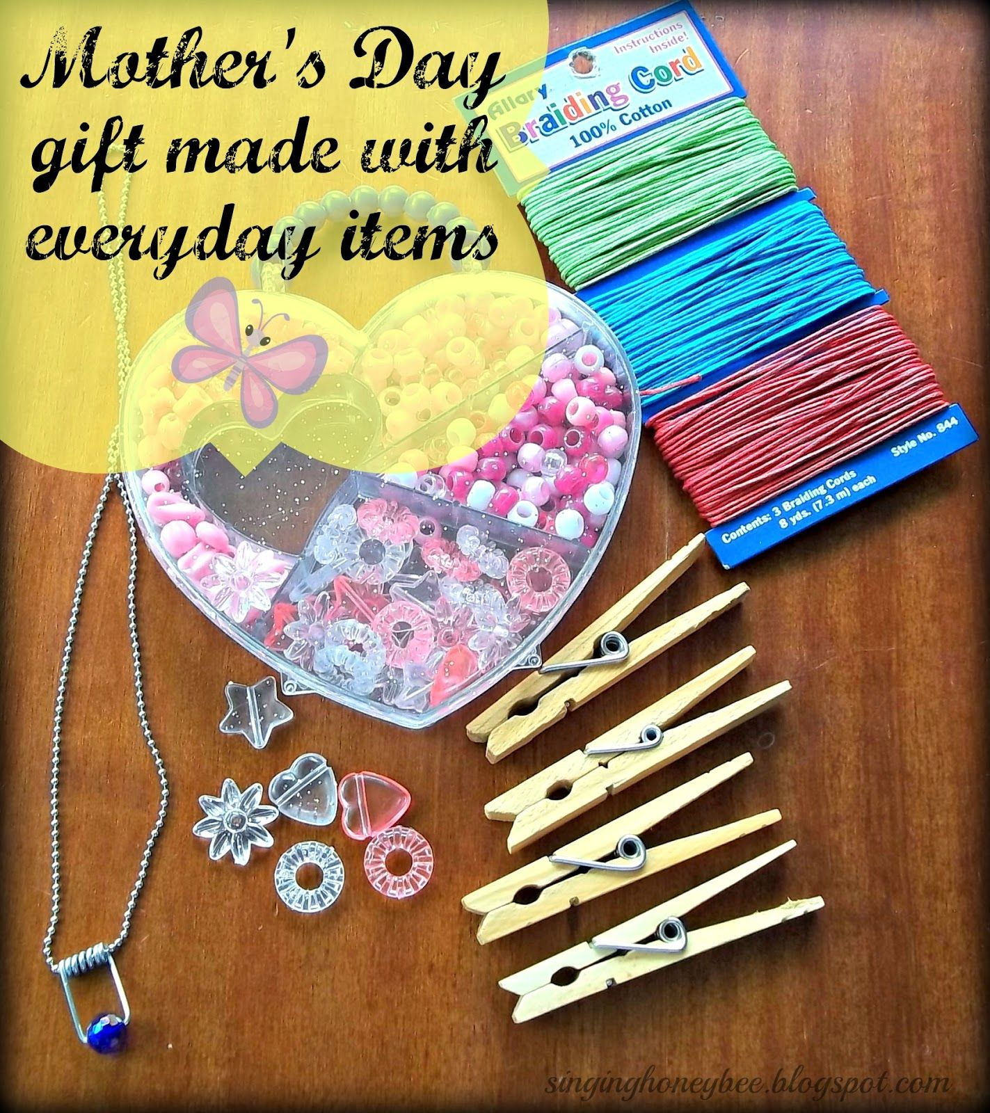 Mother 39 s day gift made with everyday items around the for What to make for mother s day gift ideas