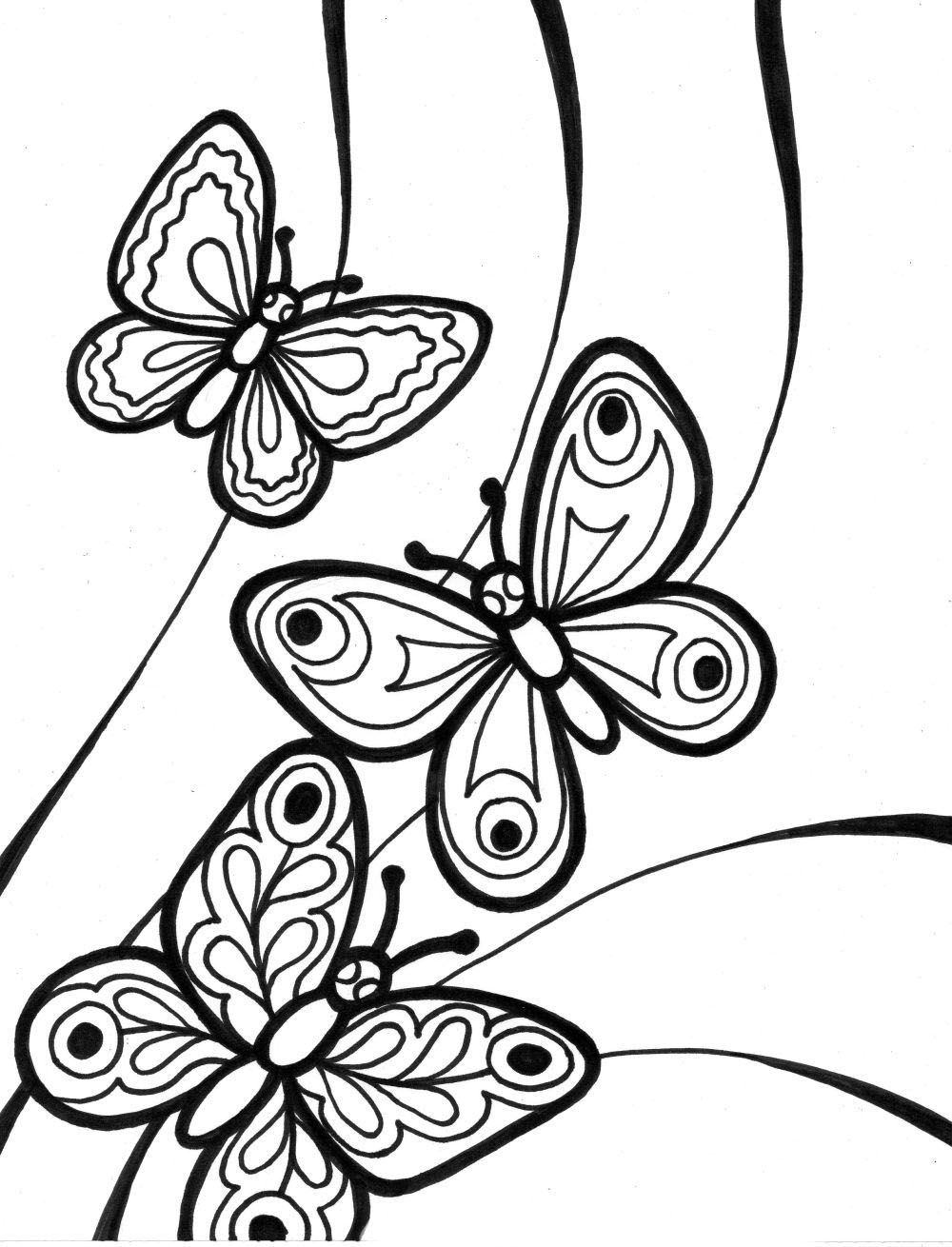 Mariposas   Butterfly coloring page, Flower coloring pages ...