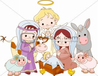 christian new year clip art image description christmas nativity scene with holy family and angel