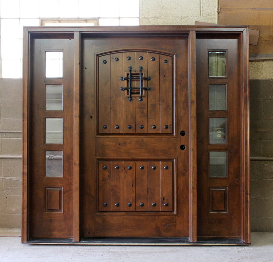 Rustic front doors rustic exterior doors wide front for Large wooden front doors