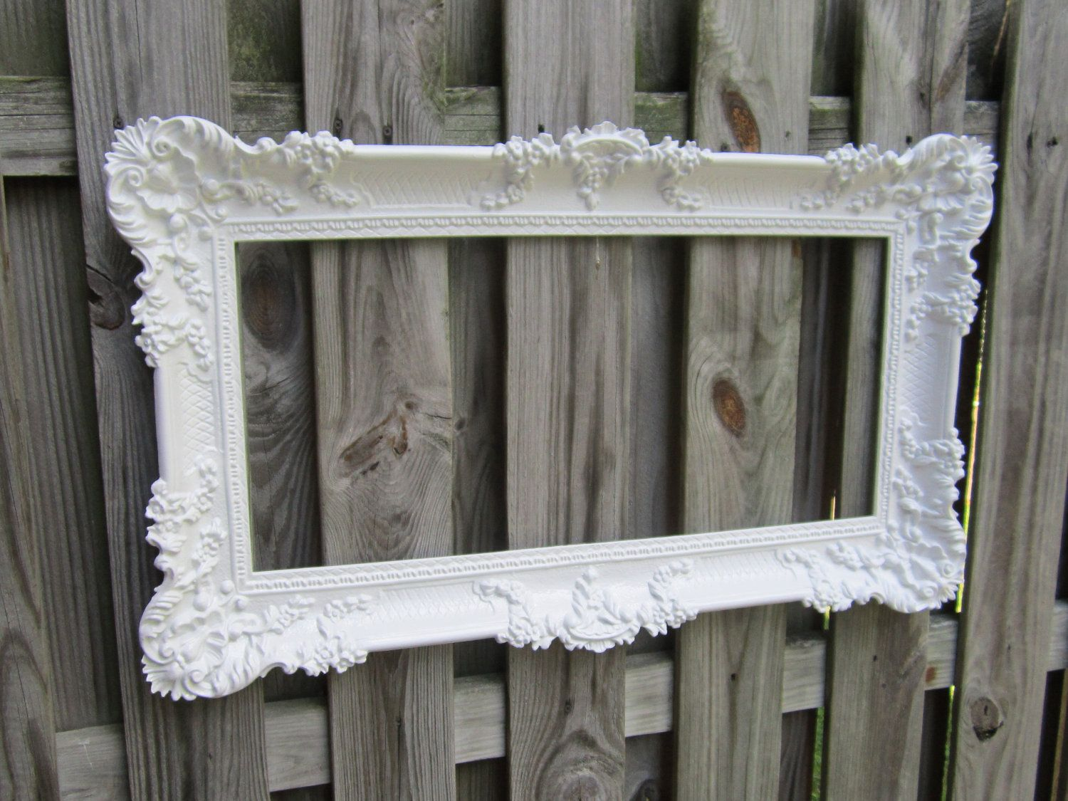 large french country frame custom picture frame wedding photo booth prop 36inx21in pink white. Black Bedroom Furniture Sets. Home Design Ideas