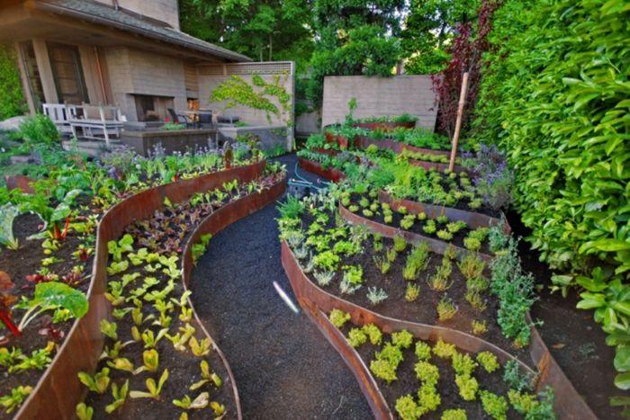 Resultado de imagen para diseo de huertas en casa  Huertos y jardines  Diseo de huertos Huerta en terraza y Huerto jardin