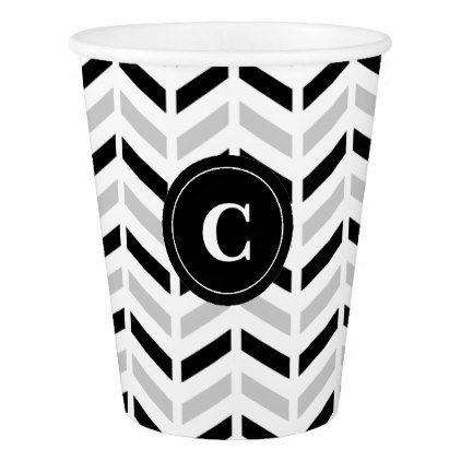 sc 1 st  Pinterest & Personalized Black \u0026 White Chevron: Paper cups   Chevron paper