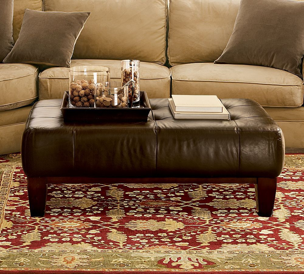 Leather Ottoman From Pottery Barn