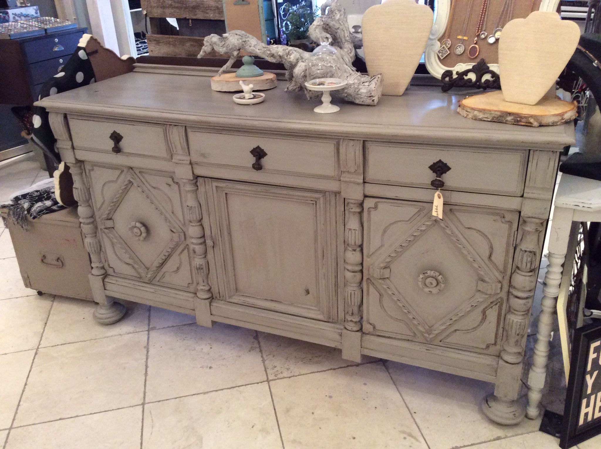 Mixed fusion mineral paint to get this coloure champlain for Homestead furniture wax