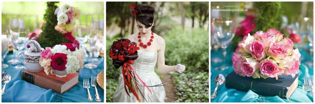 Fleurs Mariage Theme Alice Au Pays Des Merveilles Idee Pinterest