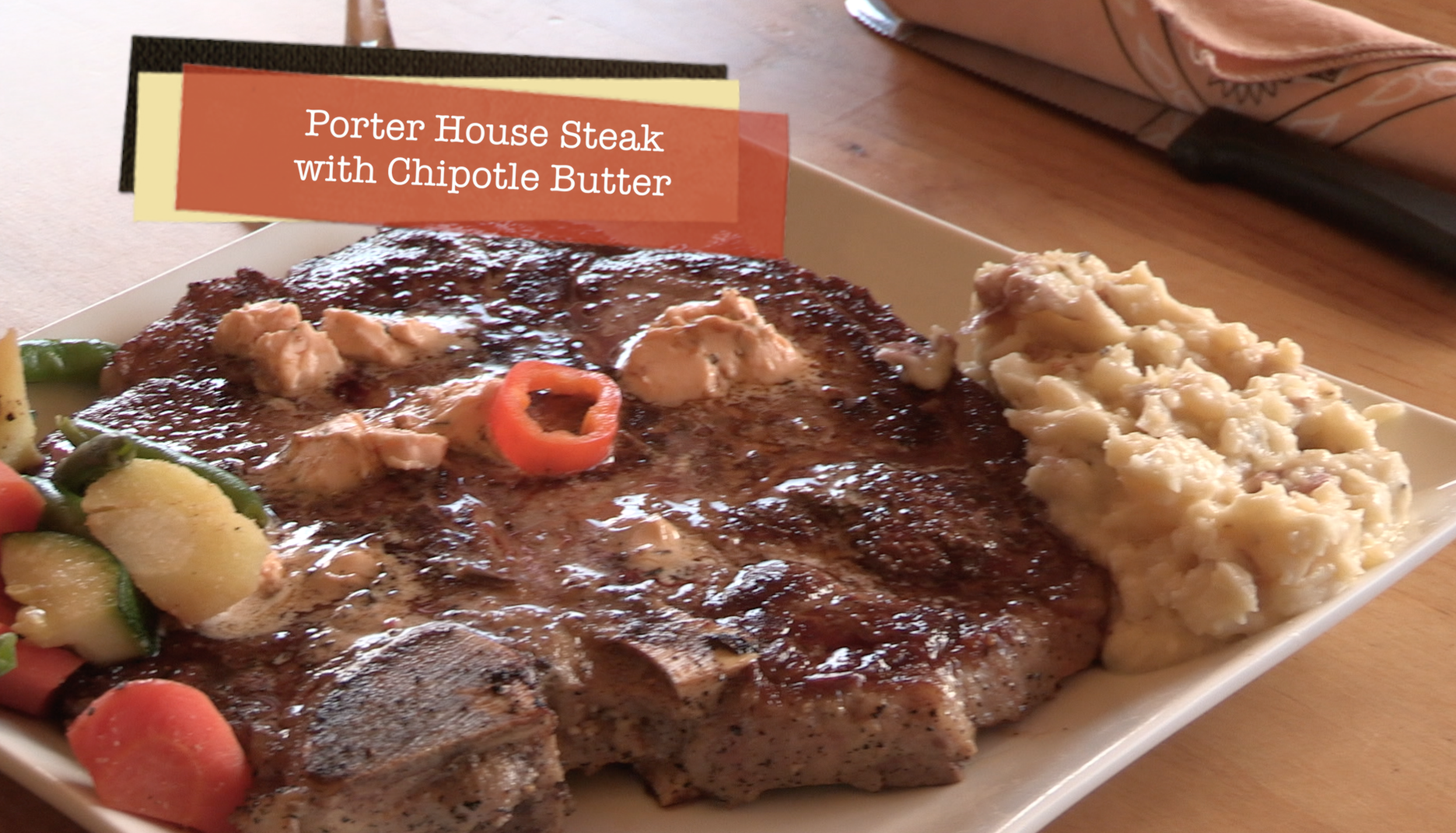Porterhouse Steaks with Chipotle Butter, Dutch Oven ...
