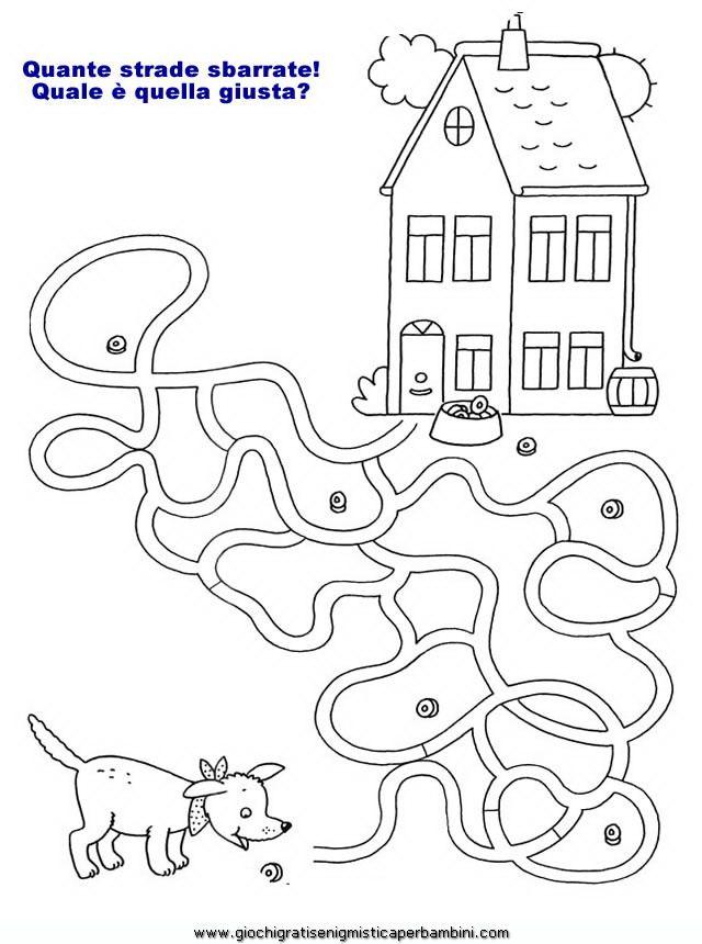Labirinti08 enigmistica per bambini e ragazzi for Enigmistica facile da stampare