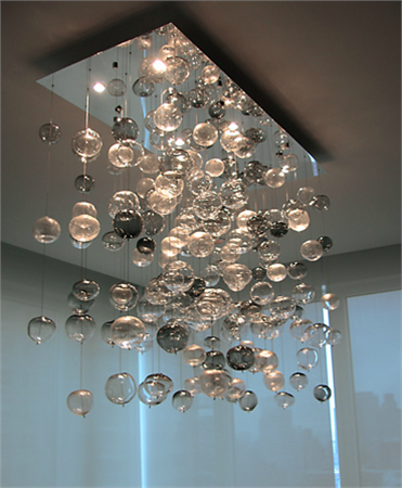 Artisan Crafted Lighting Bubbles Blown Glass Chandelier I Dont Have A Place For