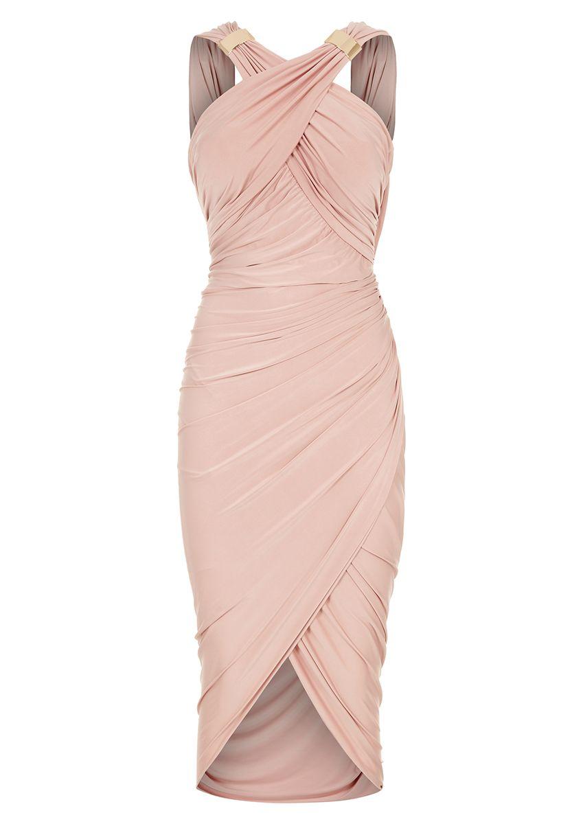 29f3954f7c Mika - Nude Drape and Wrap Dress | Clothes/Klere | Mini prom dresses ...