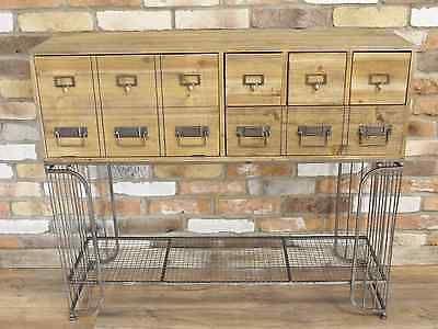 Retro Industrial Style Vintage Wood Multi Drawer & Door Chest Of Drawers  | eBay