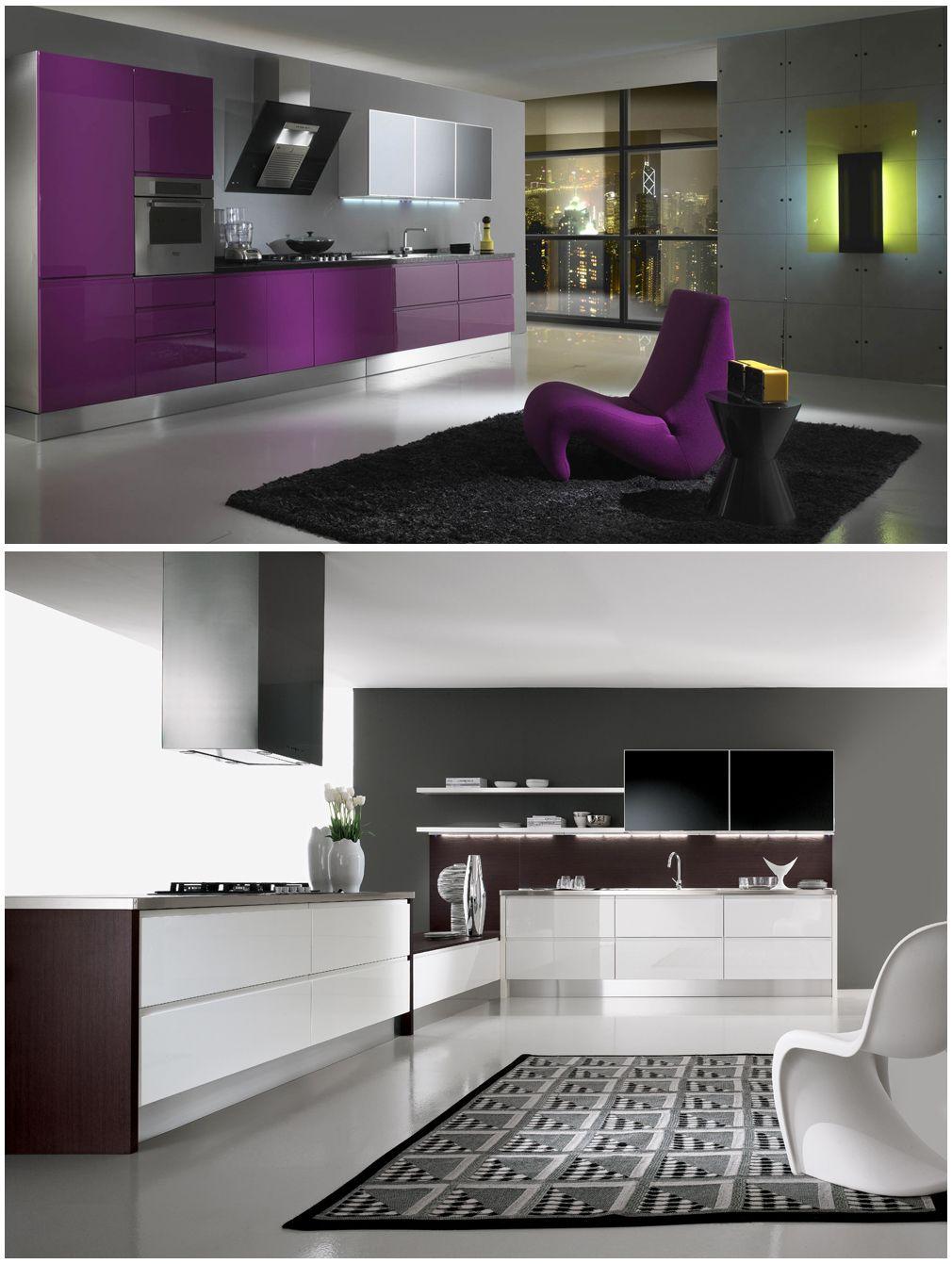Cucina Moderna Fuxia.Arredamento Cucina Alice Fuxia Bianco Design Colore