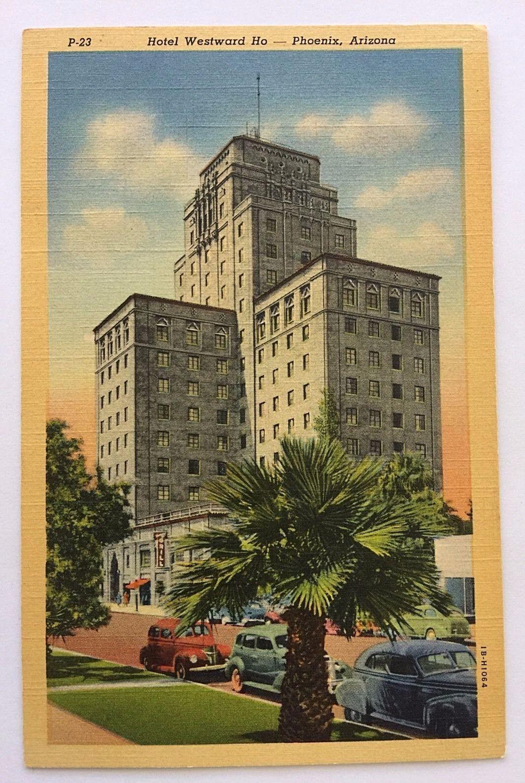1940s linen hotel westward ho phoenix arizona cars