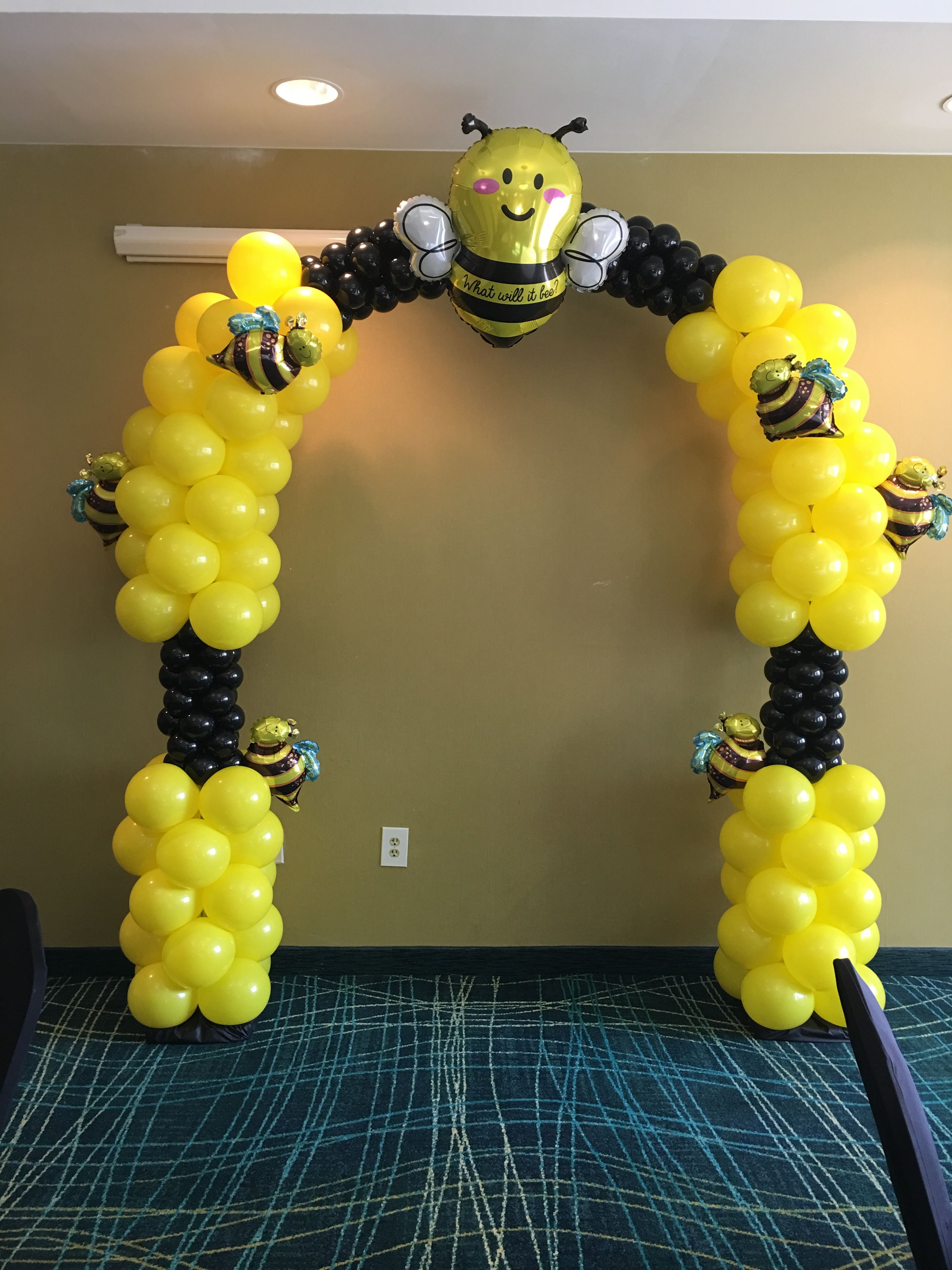 Bumblebee Balloon Arch Balloon Arches Pinterest Balloons