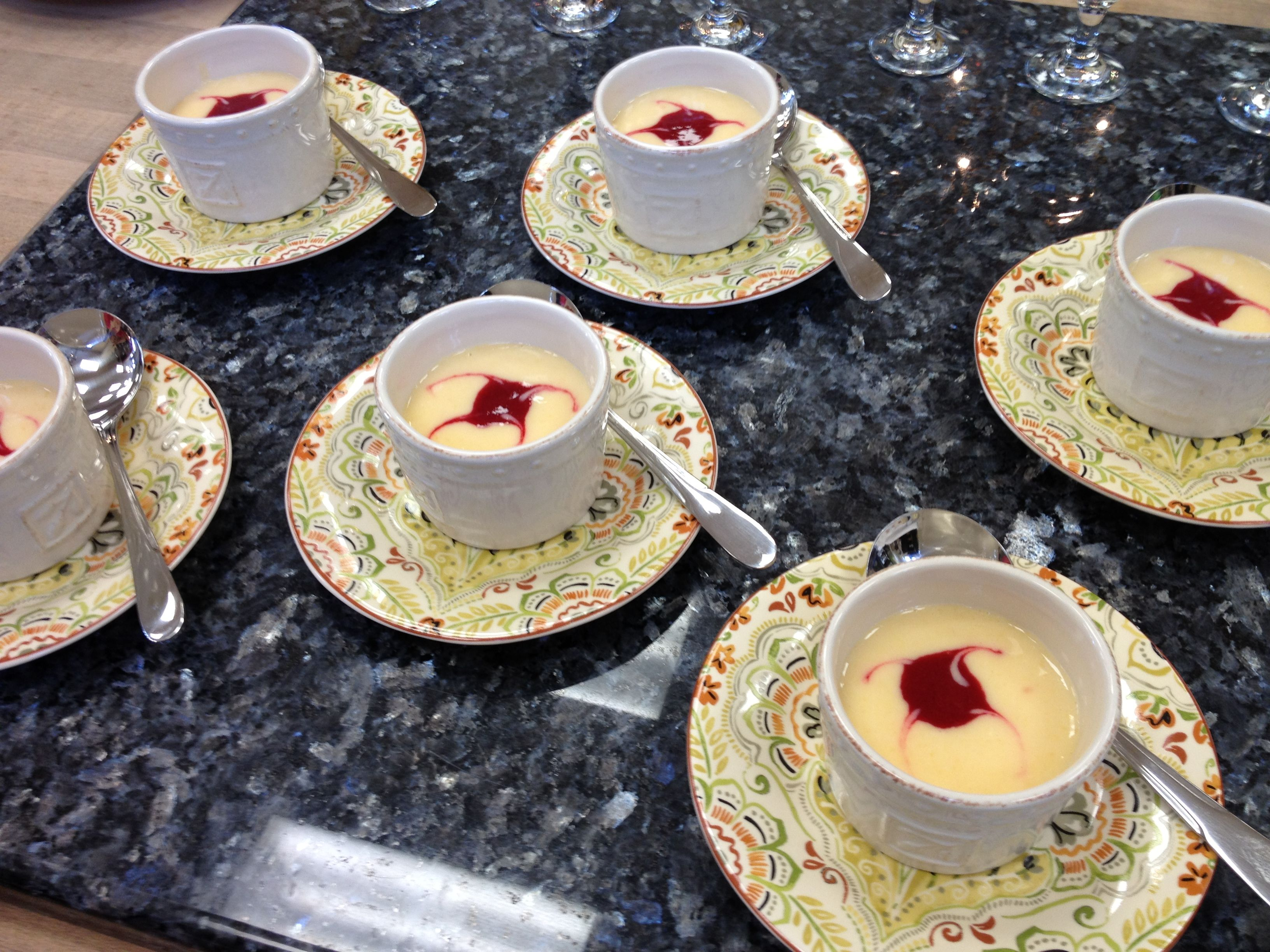 Chilled peach raspberry souponly the paisley pear
