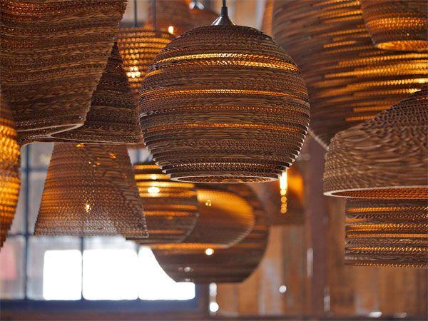 Inspirational Scraplight Pendelleuchte Graypants pr sentiert Leuchte aus recyceltem Karton bestellen Sie Ihre innovativen Lampen u Leuchten im ikarus design shop