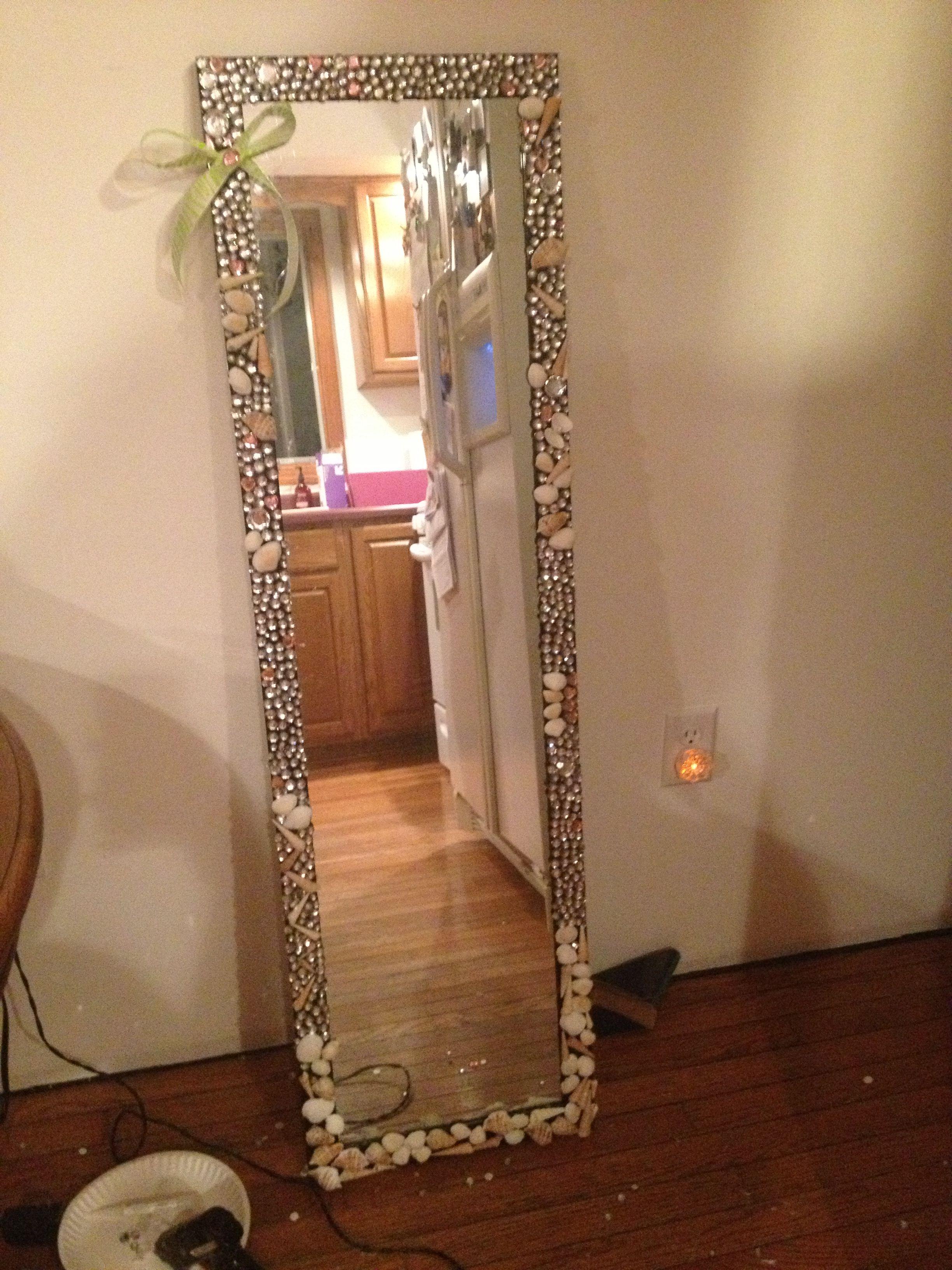 Bedazzled Mirror Diy Mirror Diy Room Decor Room Diy