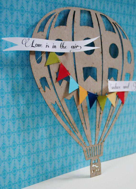 Hot air balloon wedding custom gift idea by PaperPolaroid on Etsy,