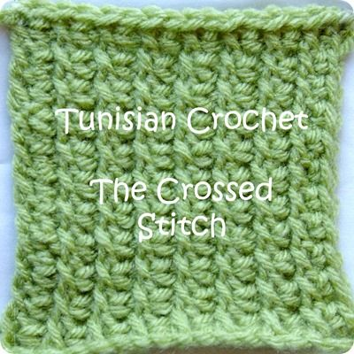 Crossed Tunisian Crochet--I really like this because it looks more ...