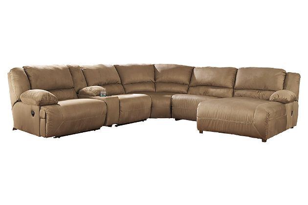 Tan leather sectional sofa with chaise lounge for your living room