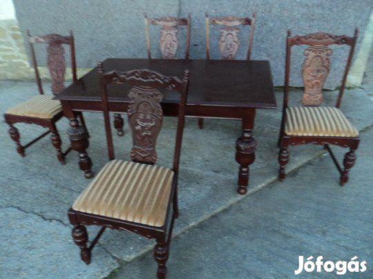 Eladó Antik jellegű asztal és szék: Antik jellegű asztal + székek ...