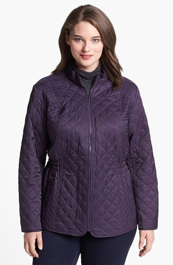 Laundry by Shelli Segal Diamond Quilted Jacket (Plus Size ... : quilted jacket plus size - Adamdwight.com