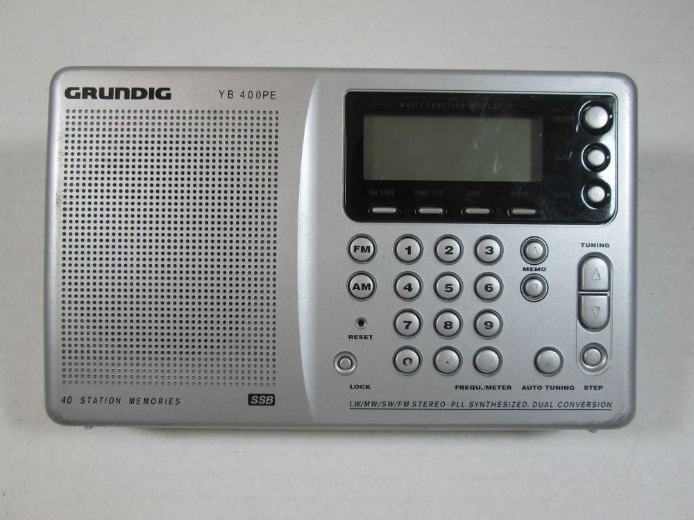 GRUNDIG YACHT BOY YB 400PE YB-400-PE DIGITAL AM/FM SHORTWAVE