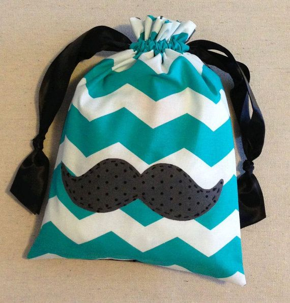 Gymnastics Grip Bags Personalized Item M3 Ipad Or Bag Mustache Teal